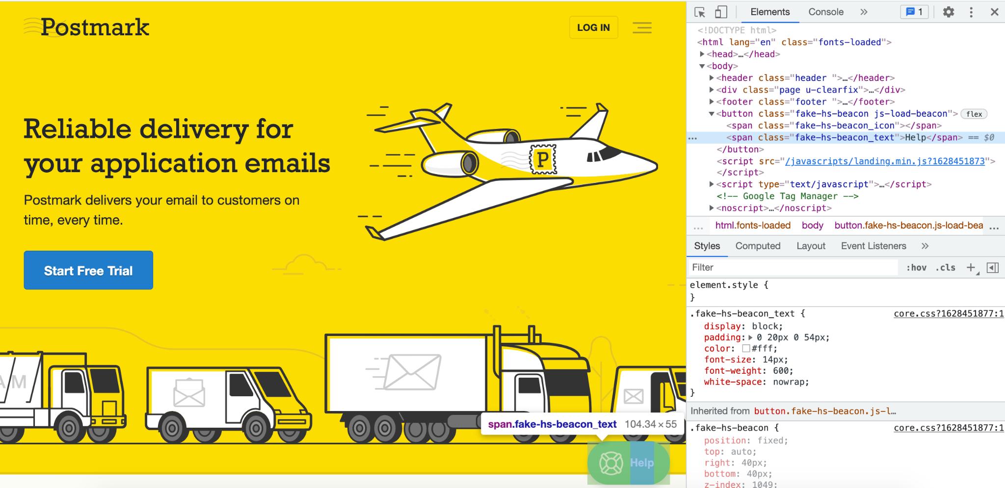 Postmark chat widget