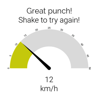 Demo web application for punch speed measurement
