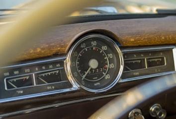 Speedometer on a retro car
