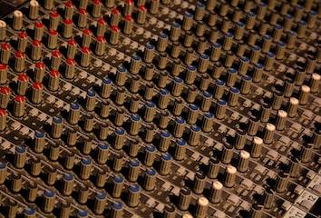 DJ mixer controls.