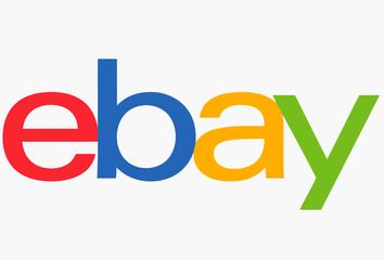 The eBay Logo and a screenshot of the eBay site