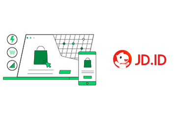 Various icons related to the concept of an e-commerce site.