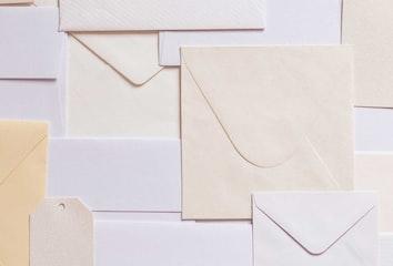 A pile of envelopes.