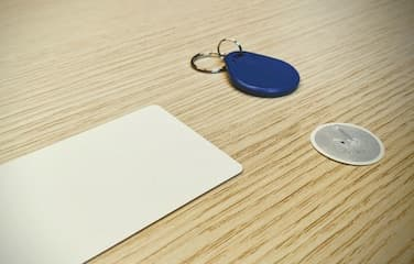 A photo of NFC tags