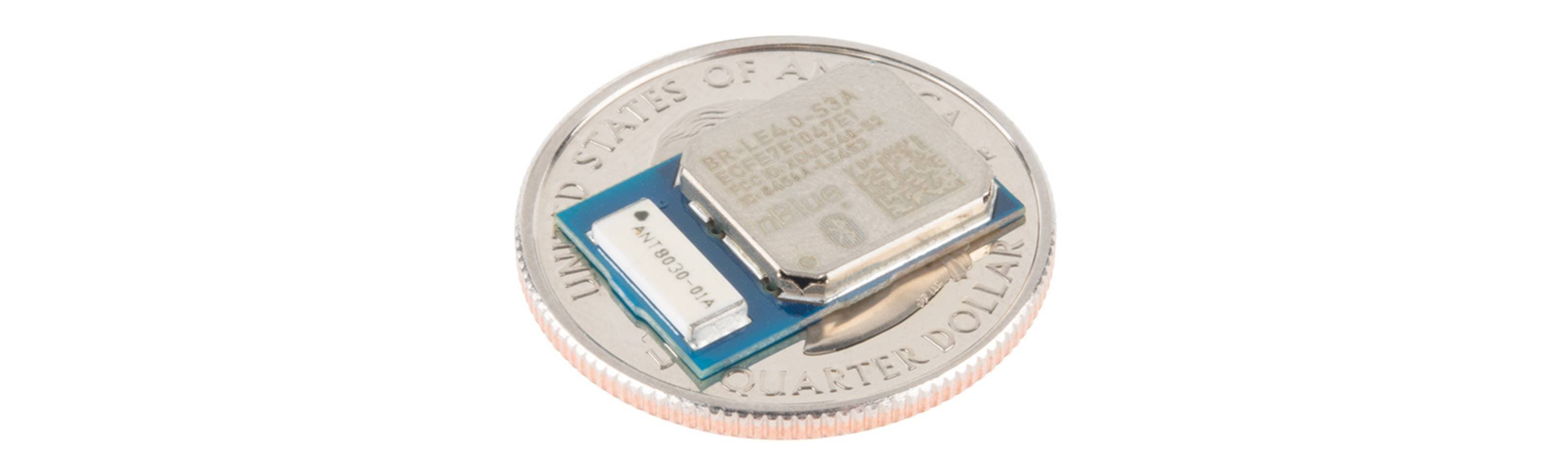 A Bluetooth chip on a coin