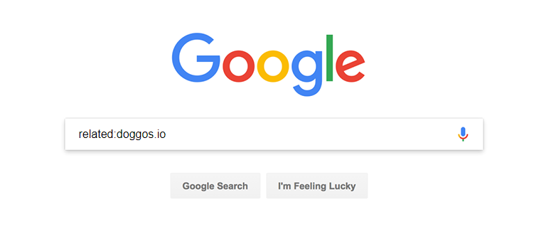 Screenshot of Google search with the related keyword
