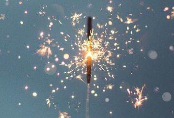 A sparkler.