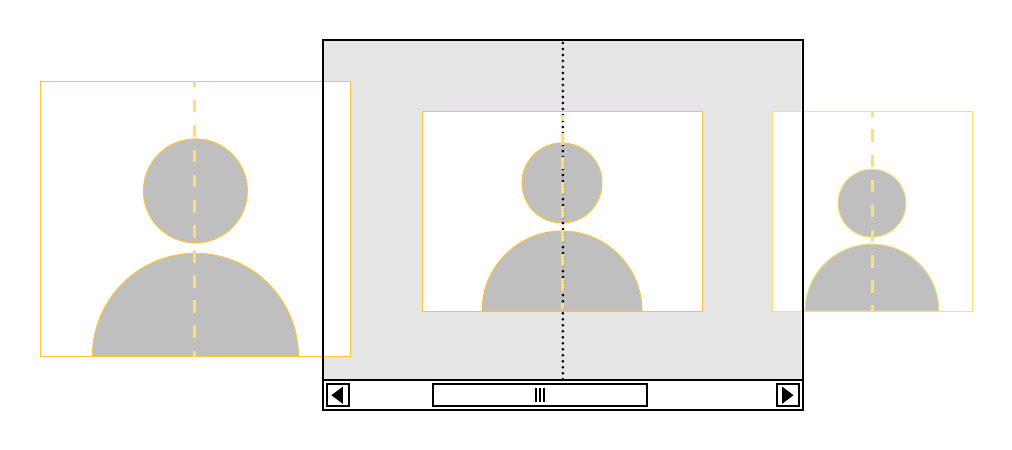 Example of CSS scroll snap.