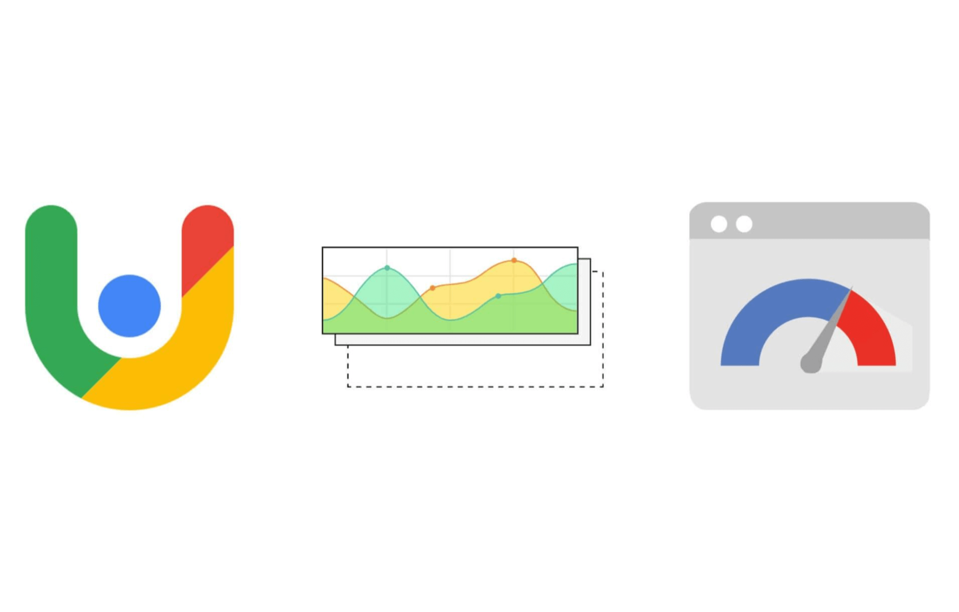 Chrome User Experience logo, PageSpeed Insights logo, and a metrics chart.