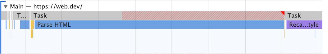 Длительные задачи в Chrome DevTools