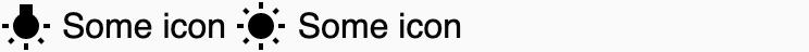 Regular icons in light mode.
