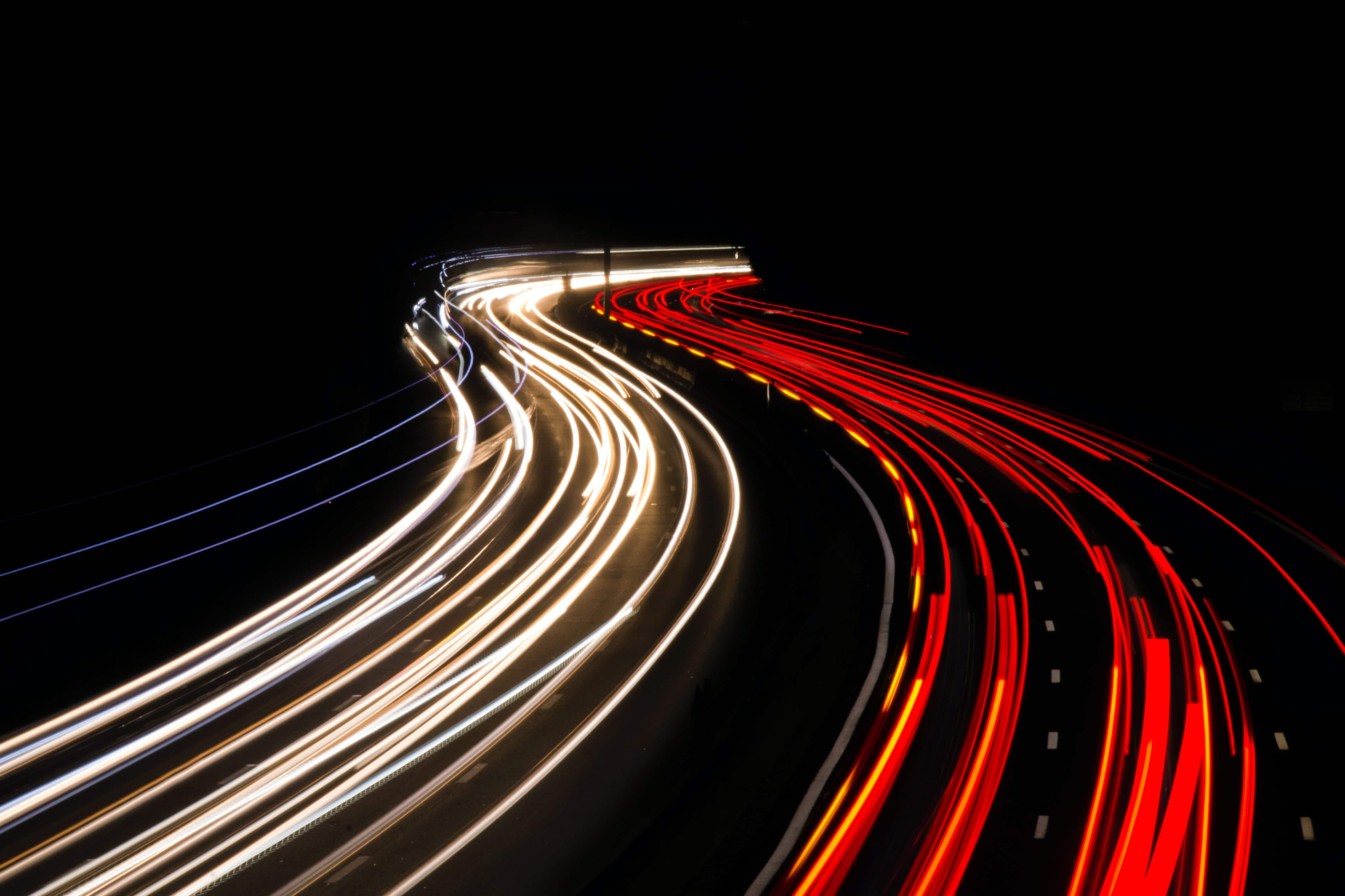 Photo of fast-moving traffic.