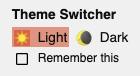 <dark-mode-toggle> in light mode.