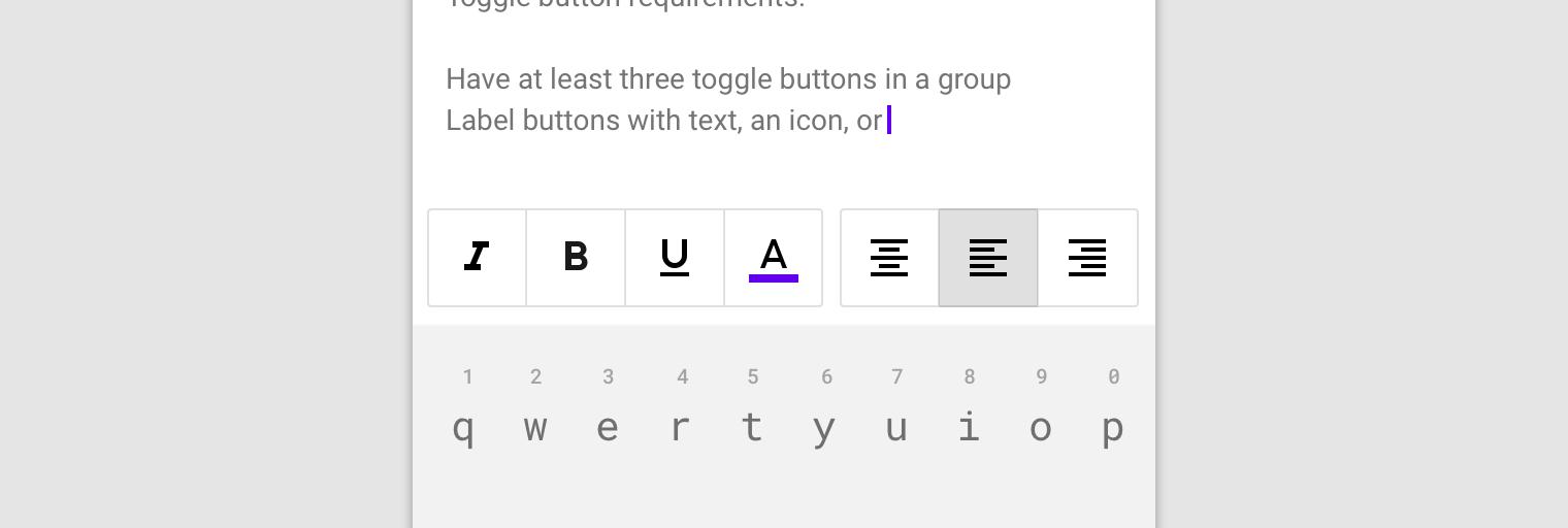 A left align icon button.
