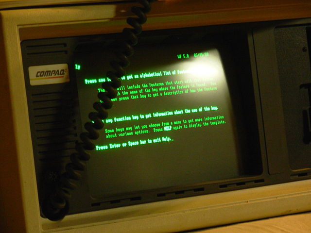 Green screen computer monitor