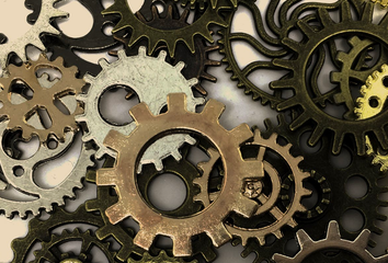 A pile of gears.