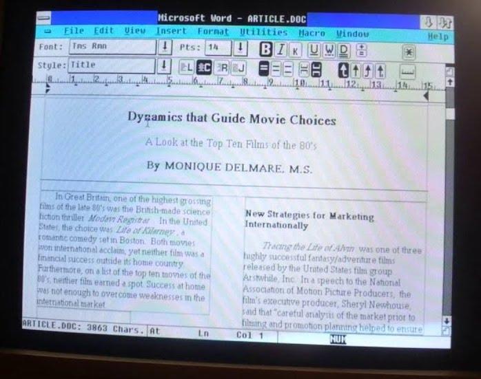 Dark-on-white word processing