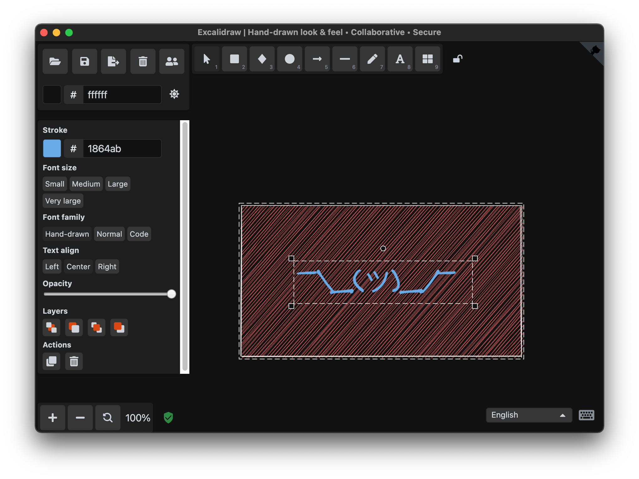 The Excalidraw Desktop application running in an Electron wrapper.
