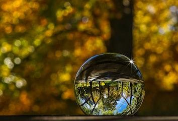Glass crystal ball