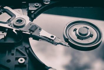 Image of hard disk platters