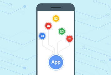 An illustration demonstrating that web apps can use the system-provided sharing UI.