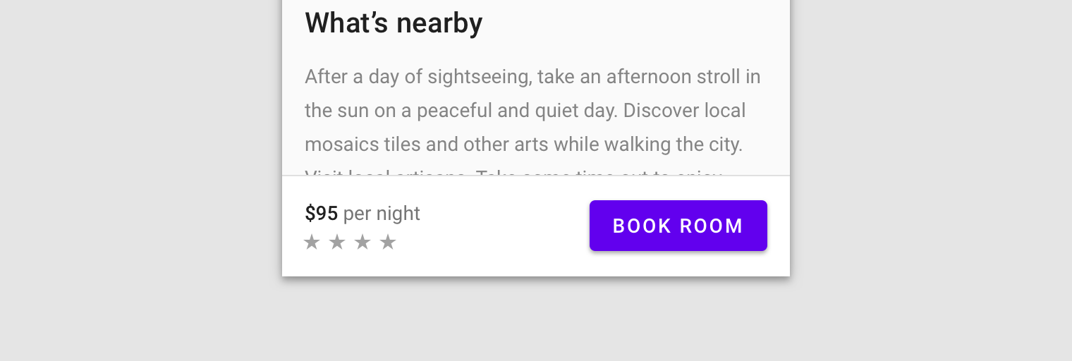 A mobile form with a 'Book Room' button.
