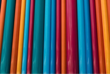 Binders in many colors.