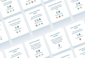 A grid of cards showing test names and test results from across tooling.report.