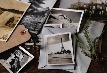 A pile of photos.