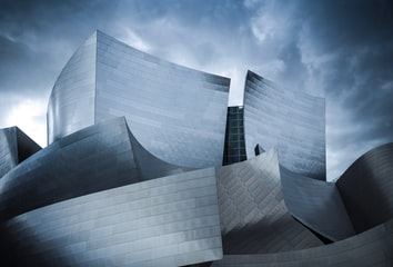 Exterior view of the Walt Disney Concert Hall