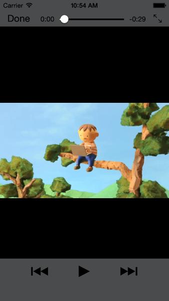 Screenshot of video playing in Safari on iPhone, portrait.