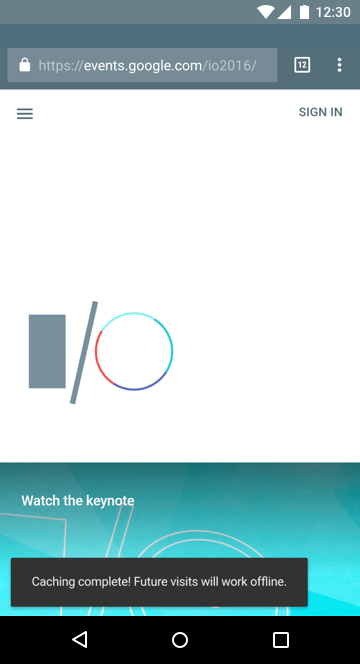 I/O app offline