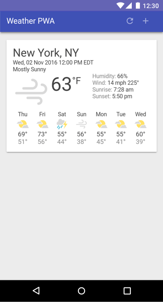An example weather app.