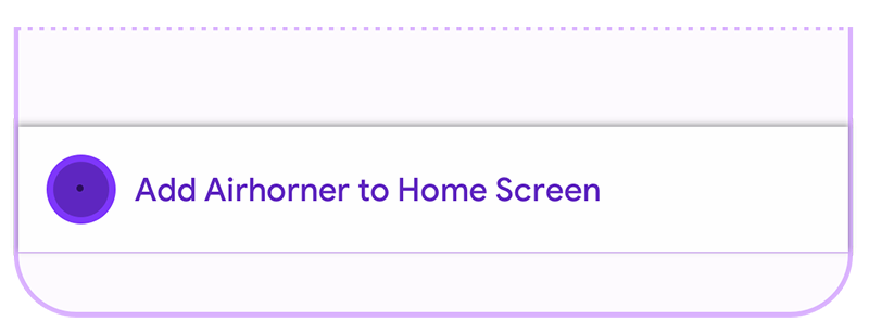 Screenshot of browser provided install promotion.