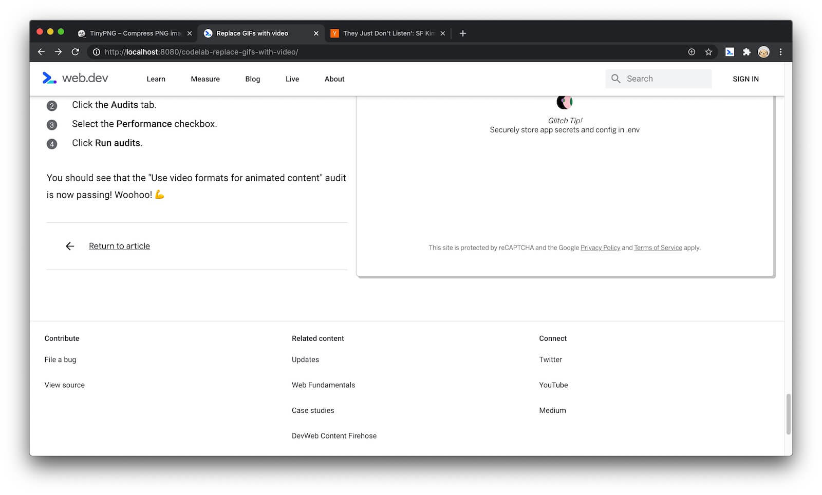 An example of a page with a related post.