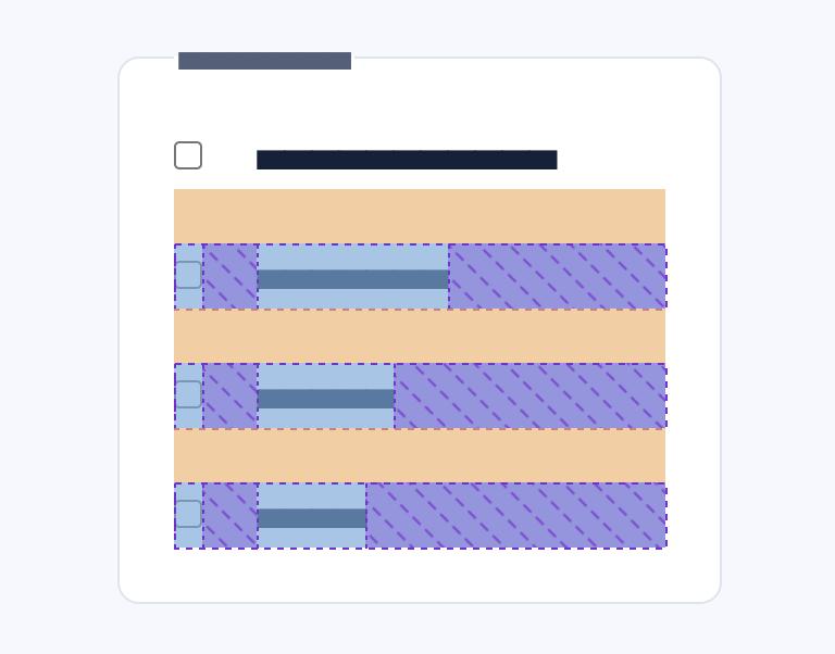 Screenshot showing the margin spacing between inputs but not the legend.