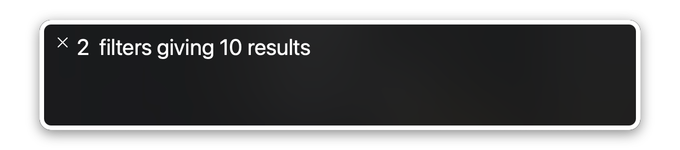 A screenshot of the MacOS screen reader announcing results.