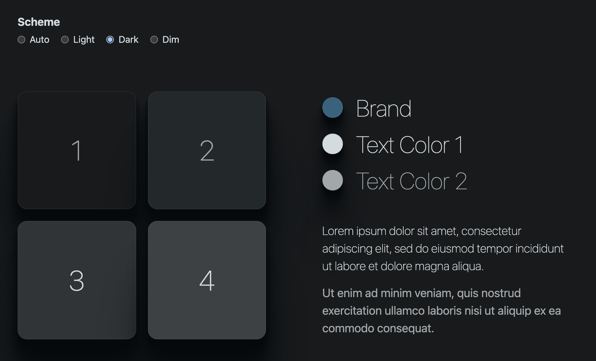 preview of the end result of the dark theme