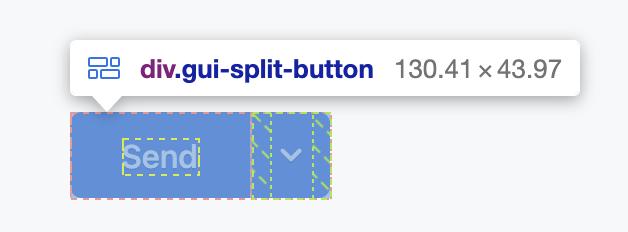 The split button.
