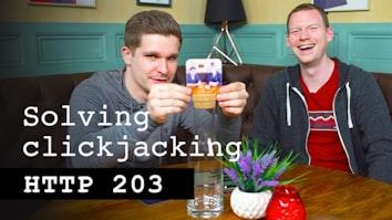 Solving Clickjacking - HTTP 203
