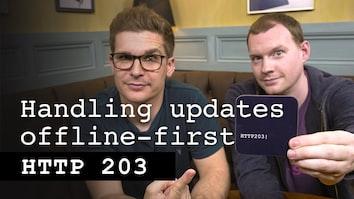 Handling updates offline-first - HTTP 203