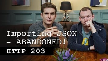 Importing JSON - ABANDONED - HTTP 203